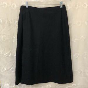 GAP Black Wool Wrap Around Skirt